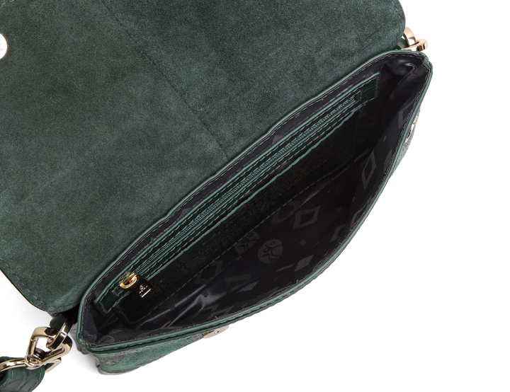 ADAX Berlin Shoulder Bag Nynne, Green Saffiano.no
